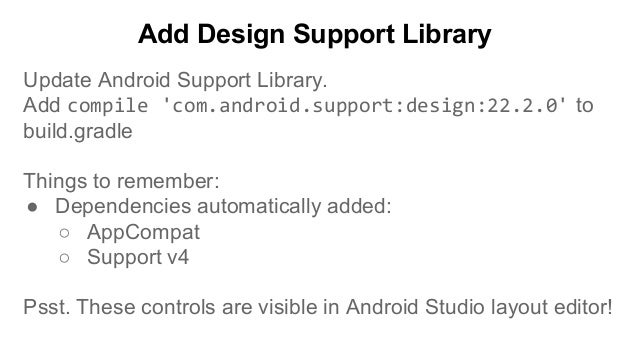 I/O '15 - Design Support Library