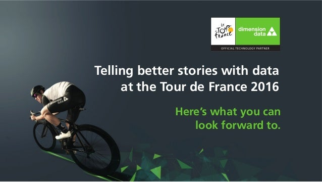 Telling better stories with data at the Tour de France 2016 Here's what you can look forward to.