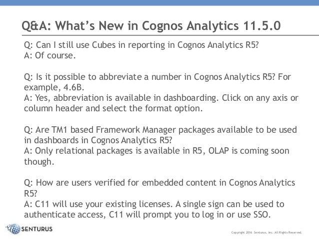 what s new in cognos analytics 11 0 5 rh slideshare net Cognos 10 2 Architecture Learn Cognos