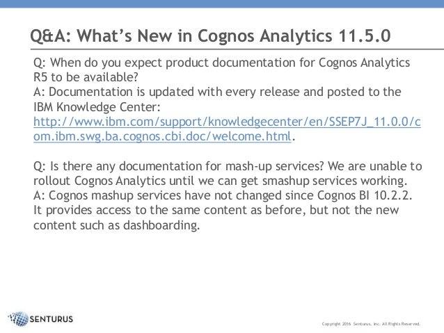 what s new in cognos analytics 11 0 5 rh slideshare net IBM Cognos Training Courses Cognos Report