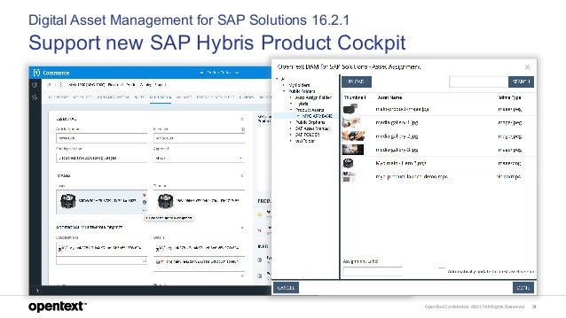 OpenText Confidential. ©2017 All Rights Reserved. 31 Digital Asset Management for SAP Solutions 16.2.1 Support new SAP Hyb...