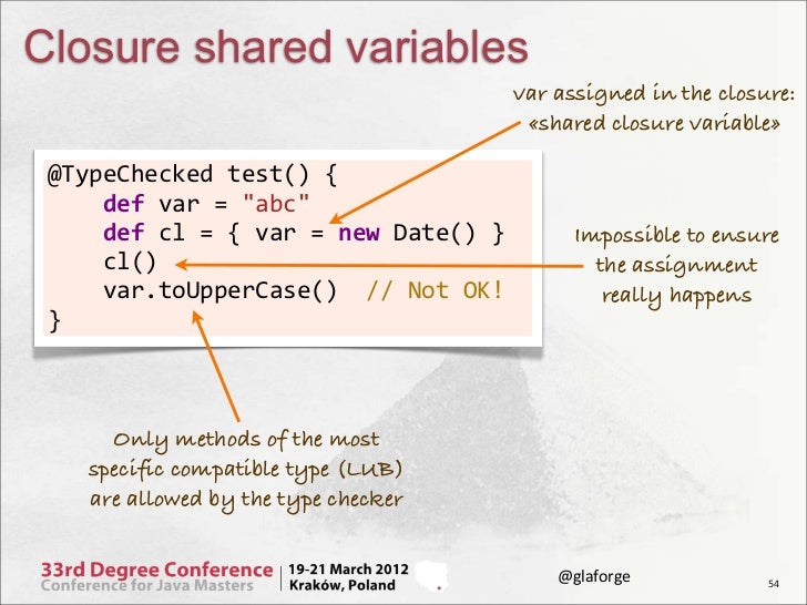 Closure shared variables                                                                         var assigned in the closu...