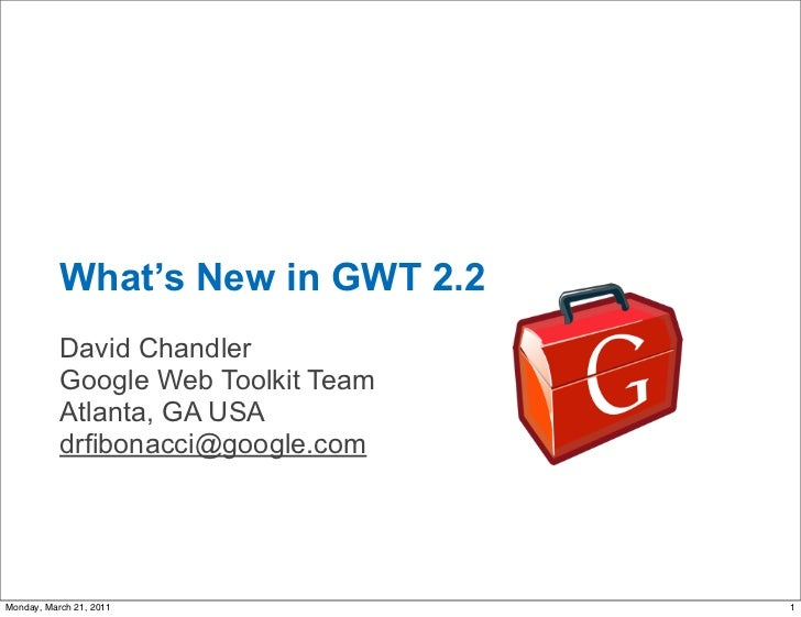 What's New in GWT 2.2