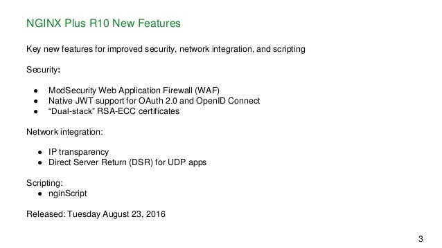 What's New in NGINX Plus R10?