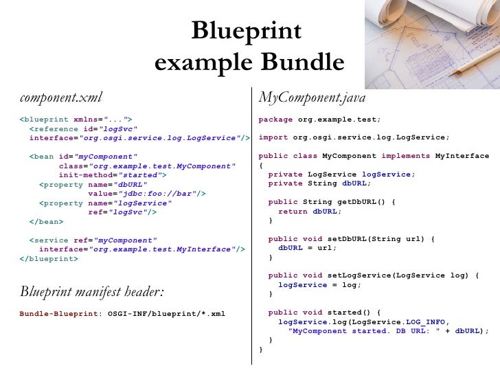 Whats new in the osgi 42 enterprise release blueprint example malvernweather
