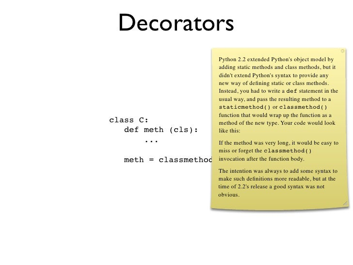 What 39 s new in python 2 4 for Decorator python