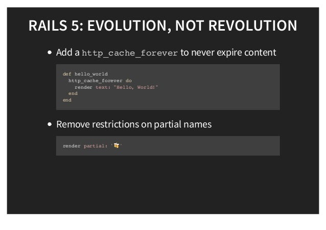What s new in rails 5 0 for Rails render template