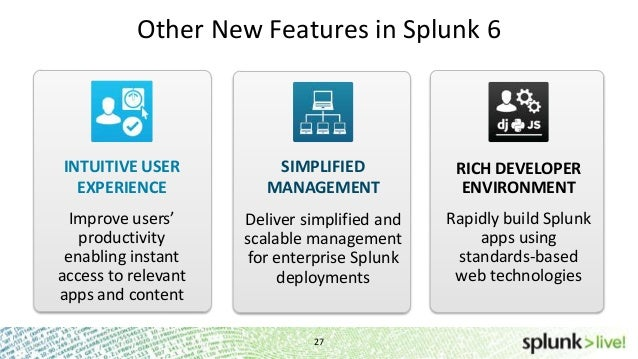 SplunkLive! What's New in Splunk 6 Session