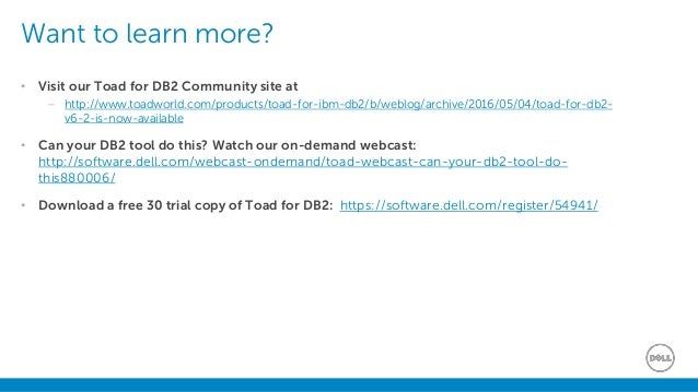 What's new in Toad for IBM DB2 v6 2