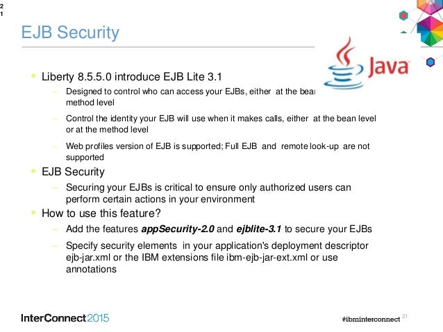 Whats new in was liberty security and cloud readiness