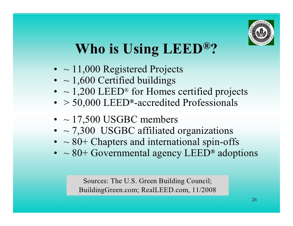 Whats new leed 2009 lorman ppt for Leed home certification