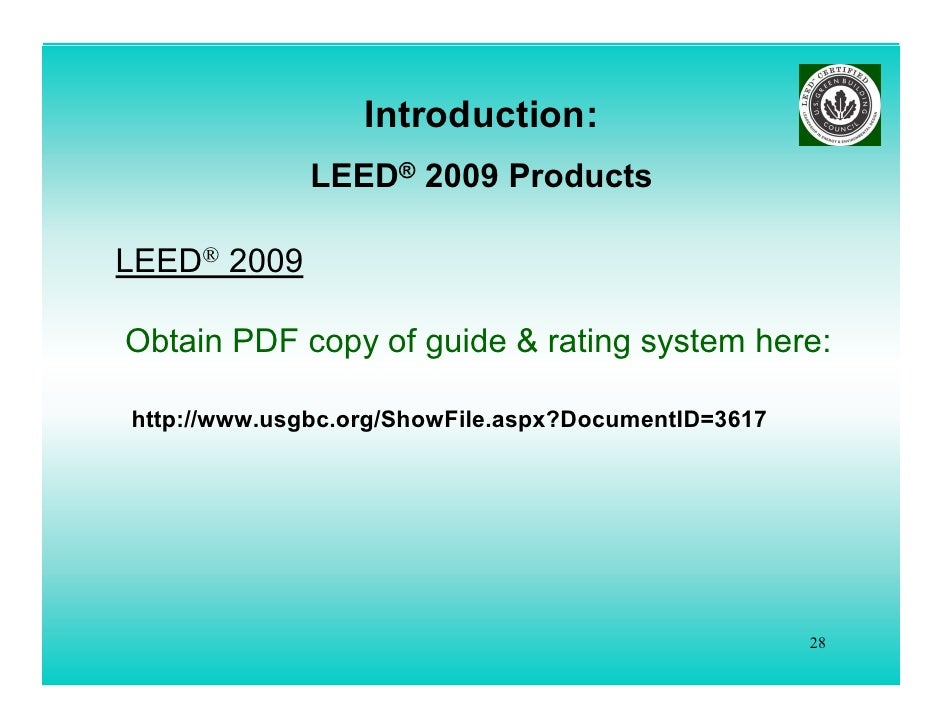 whats new leed 2009 lorman ppt