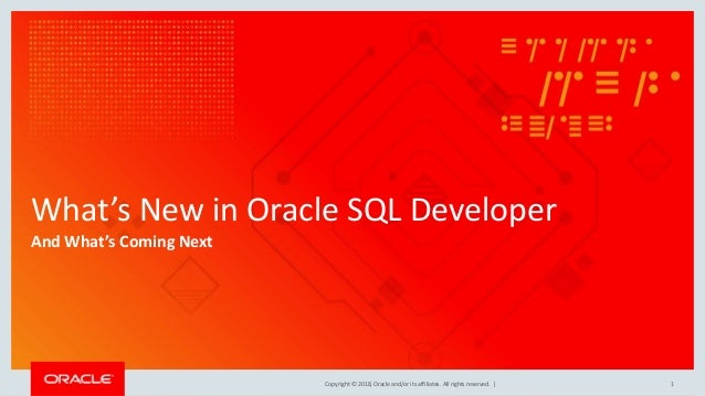 What's New in Oracle SQL Developer for 2018