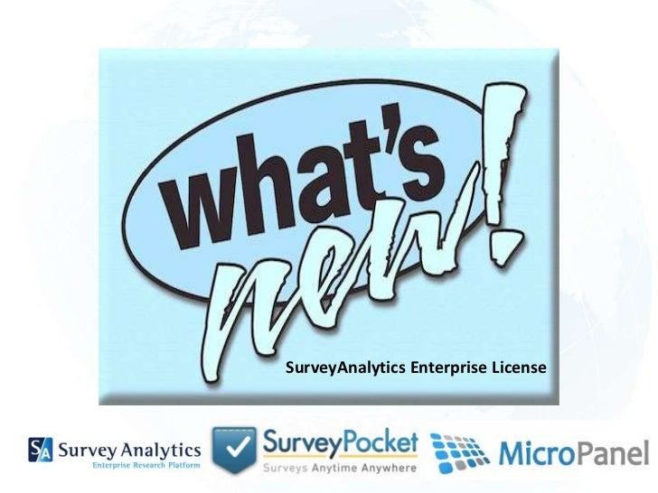 SurveyAnalytics Enterprise License<br />
