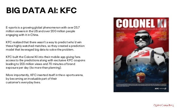 BIG DATA AI: KFC E-sports is a growing global phenomenon with over 25.7 million viewers in the US and over 200 million peo...