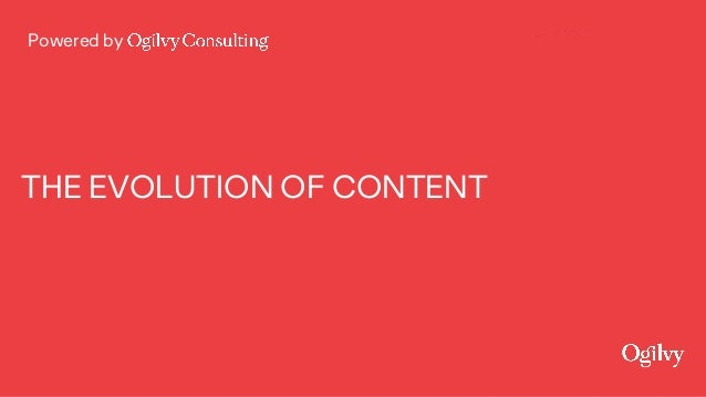 Powered by THE EVOLUTION OF CONTENT