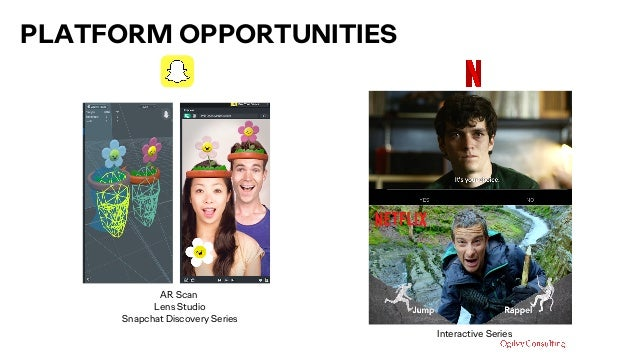 AR Scan Lens Studio Snapchat Discovery Series PLATFORM OPPORTUNITIES Interactive Series