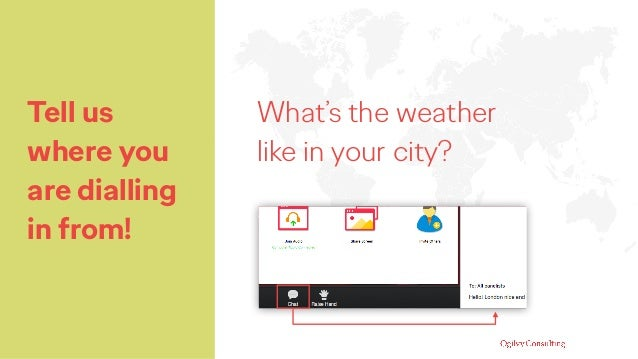 Tell us where you are dialling in from! What's the weather like in your city?