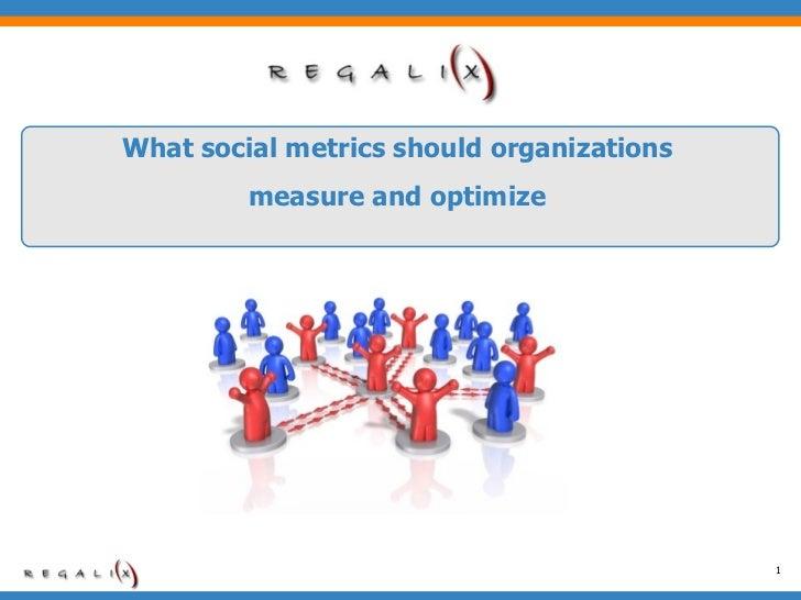 What social metrics should organizations measure and optimize