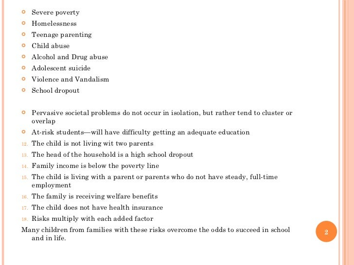 Essay on Social Problems of Teenagers
