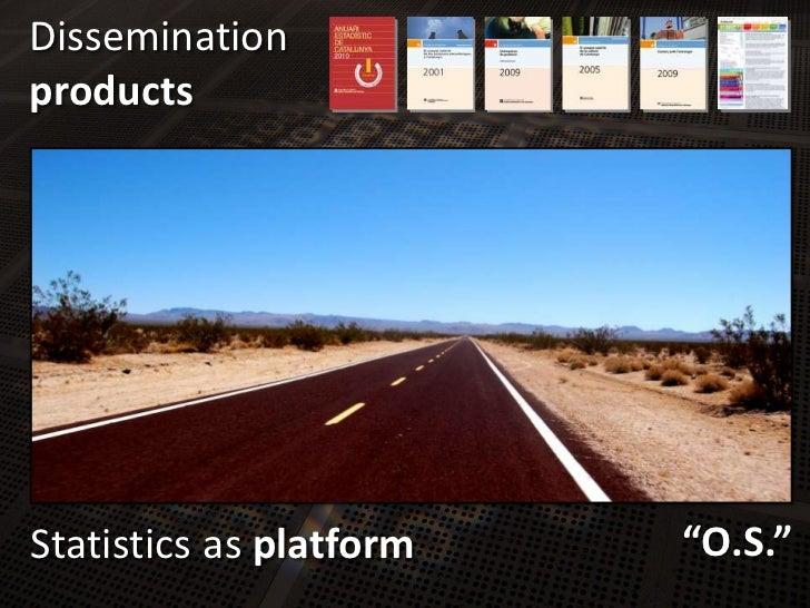 "Dissemination<br />products<br />Statisticsas platform<br />""O.S.""<br />"
