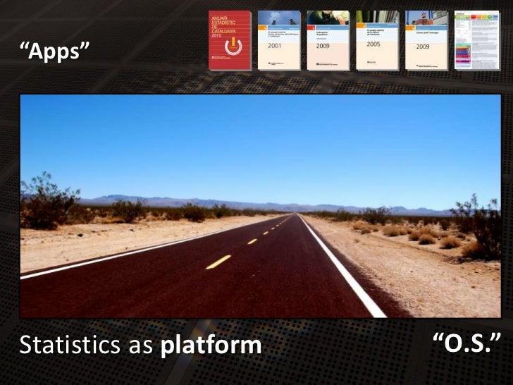 """""""Apps""""<br />Statisticsas platform<br />""""O.S.""""<br />"""