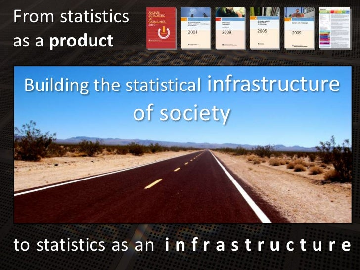 Fromstatistics<br />as a product<br />Building thestatisticalinfrastructure<br />of society<br />tostatisticsasani n f r a...