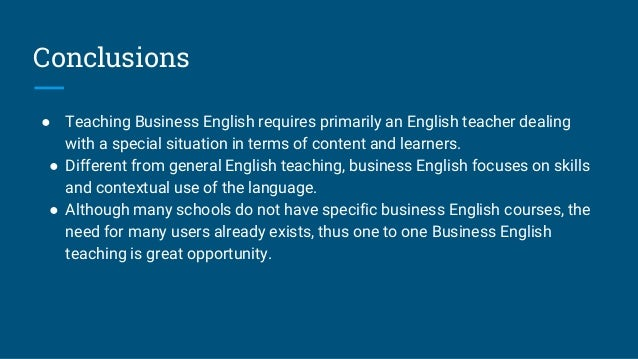 teaching business english This series, by in company author mark powell, presents a snapshot of everyday business language teaching business english in this new series of articles.