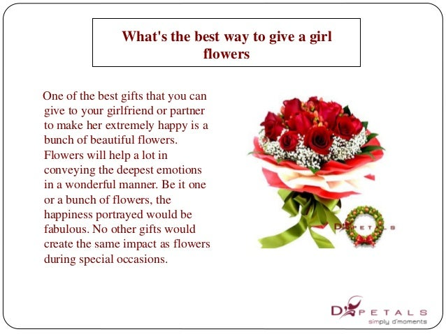 Best flower to give a girl