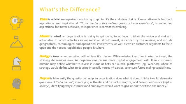 18-Nov-23 1 What's the Difference? Vision is where an organization is trying to get to. It's the end state that is often u...