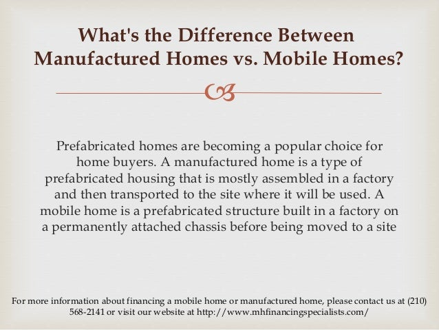 What 39 s the difference between manufactured homes vs mobile homes - Manufactured vs mobile home ...