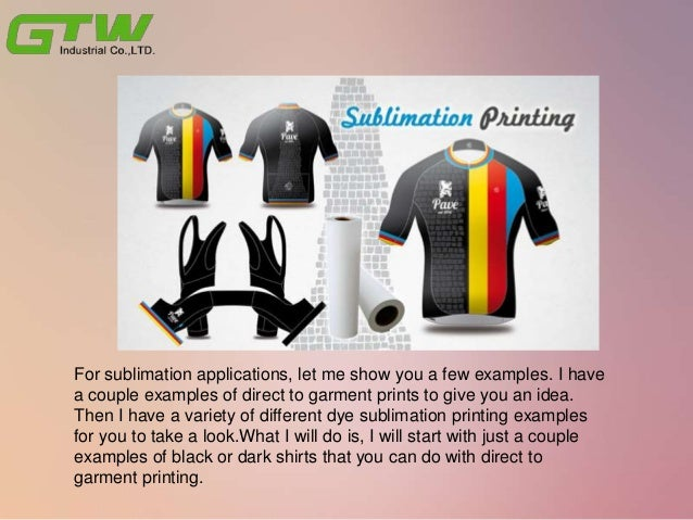 What's the ideas of dye sublimation applications with sublimation Materials? Slide 2