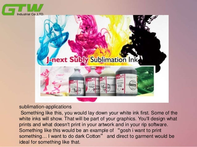 What's the ideas of dye sublimation applications with sublimation Materials? Slide 3