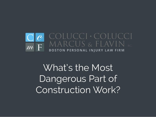 What's the Most Dangerous Part of Construction Work?