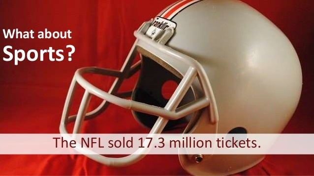 What about Sports? The NFL sold 17.3 million tickets.