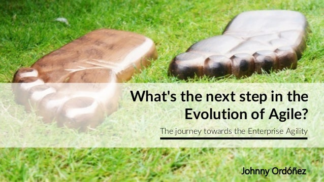 What's the next step in the Evolution of Agile? The journey towards the Enterprise Agility Johnny Ordóñez