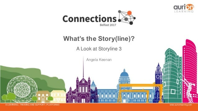 www.aurionlearning.comE-LEARNING | TRAINING AND SUPPORT | PLATFORMS What's the Story(line)? A Look at Storyline 3 Angela K...