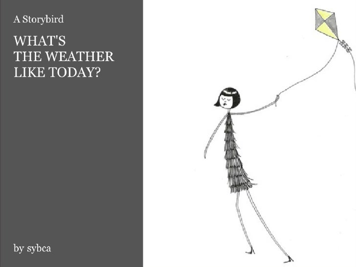 WHAT'S THE WEATHER LIKE TODAY?It's…RAINING?      STORMY?        CLOUDY?   WINDY?         SUNNY?