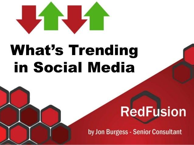 What's Trending in Social Media