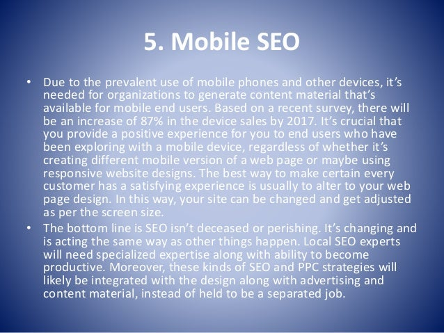 What's Trends will dominate in 2015 for SEO