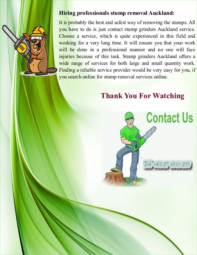 Hiring professionals stump removal Auckland: It is probably the best and safest way of removing the stumps. All you have t...