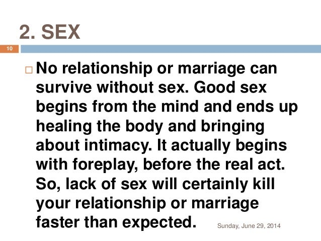 How to have a good sex relationship