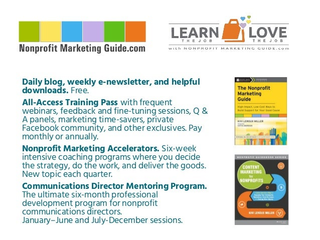 What Successful Nonprofits Get Right about Marketing and Fundraising Slide 2