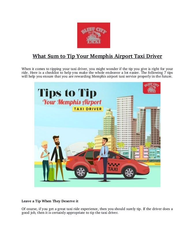 What Sum to Tip Your Memphis Airport Taxi Driver