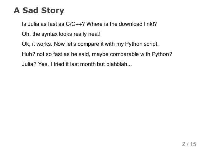 What's wrong with this Julia? Slide 2