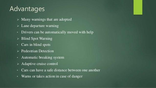 Self driving advantages and disadvantages
