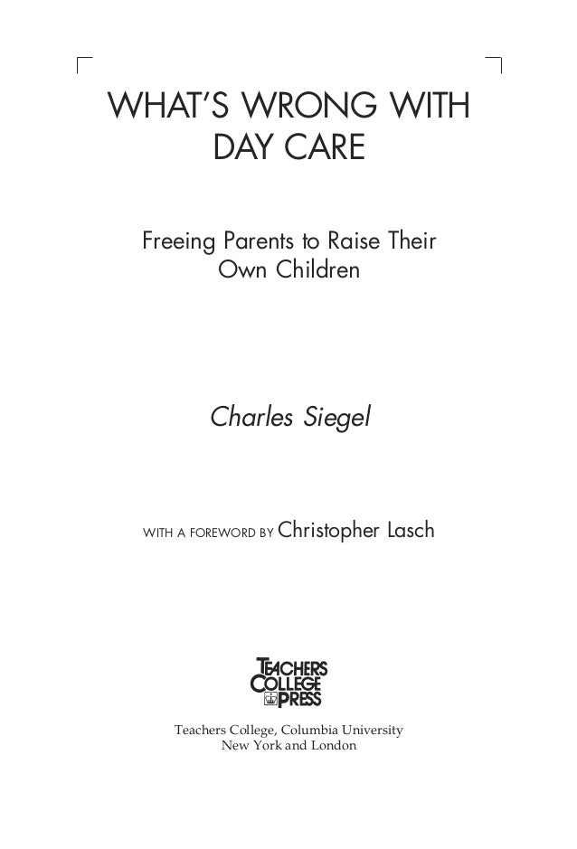 what u0026 39 s wrong with day care
