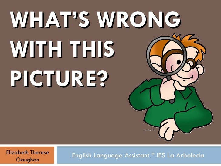 WHAT'S WRONG WITH THIS PICTURE? English Language Assistant * IES La Arboleda Elizabeth Therese Gaughan