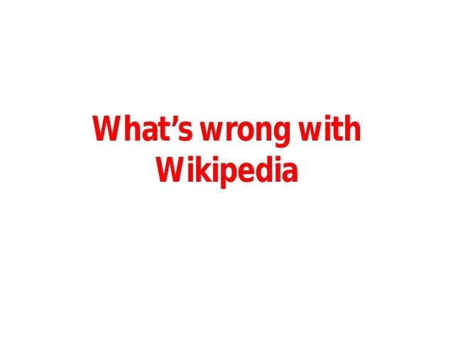 Reliability of Wikipedia