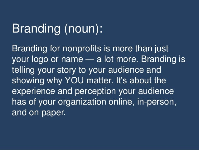 What's Your Brand And Yes, it's That Important Slide 3